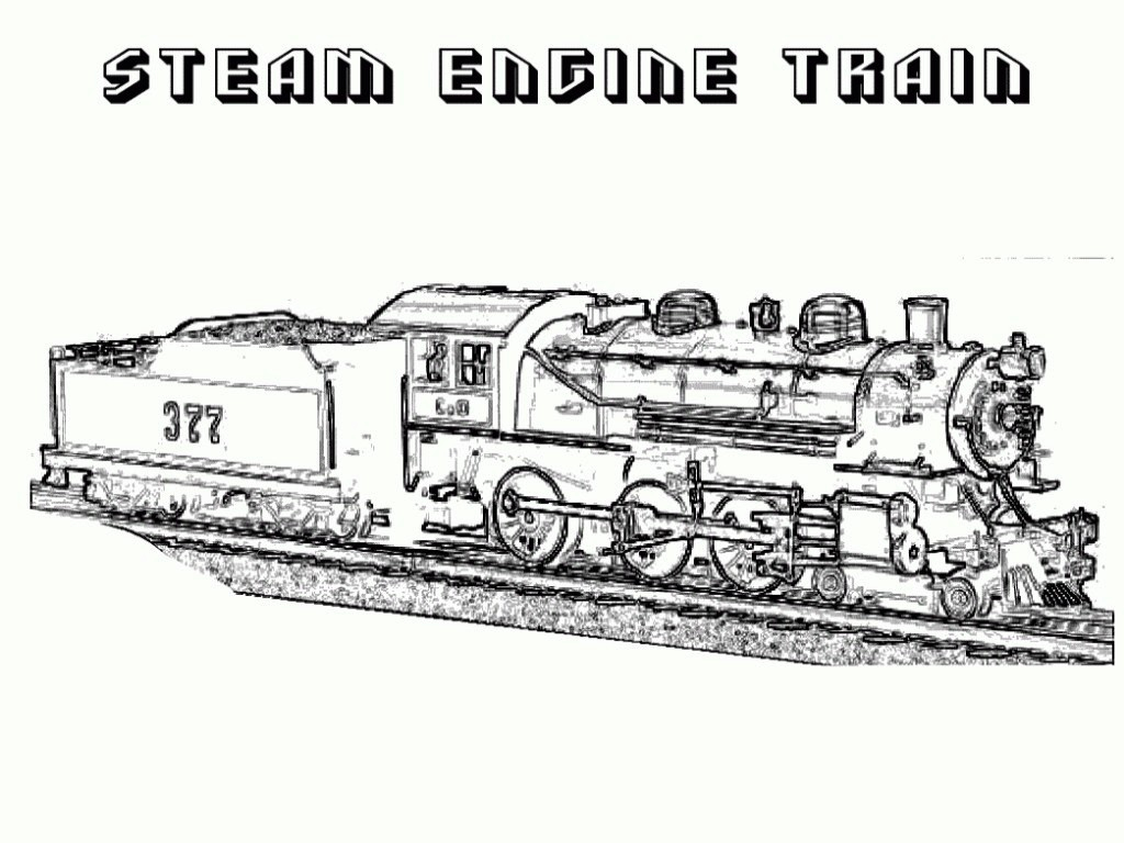 Train Color Pages Free Printable — Classic Style : Printable Train - Free Printable Train Pictures