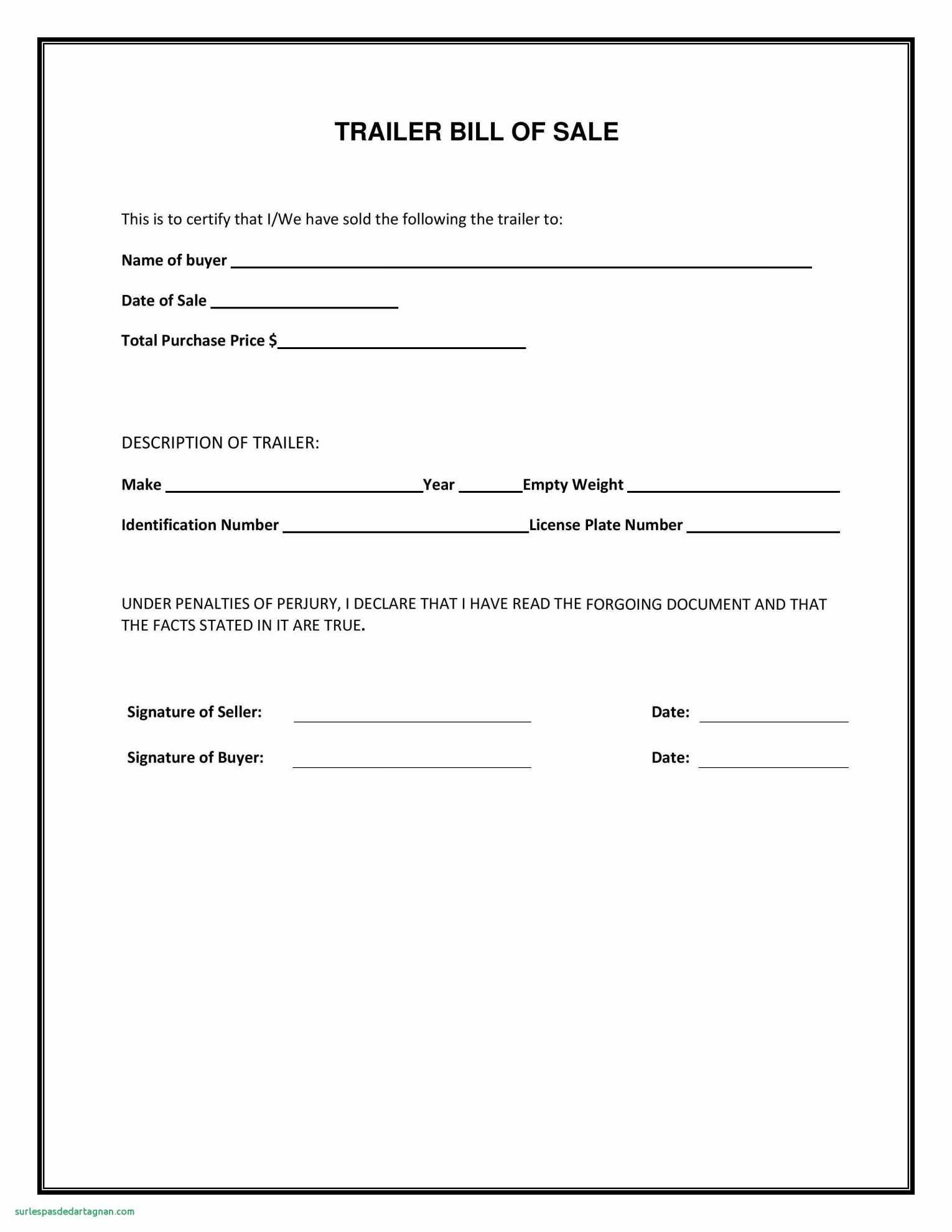 Truck Bill Of Sale Form Template With Free Motor Vehicle Bill Sale - Free Printable Bill Of Sale Form