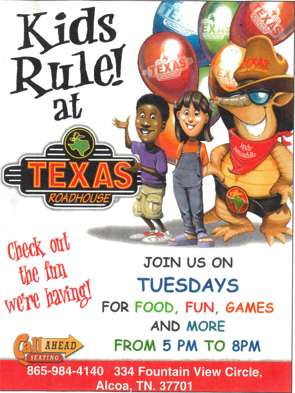Tuesdays Are Kids' Nights At Alcoa Texas Roadhouse Thrifty Christy - Texas Roadhouse Free Appetizer Printable Coupon 2015