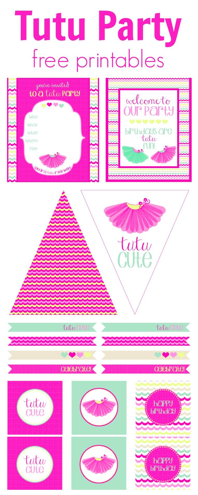 Tutu Party Free Printables | Perfect Birthday Or Playdate Theme <3 - Play Date Invitations Free Printable