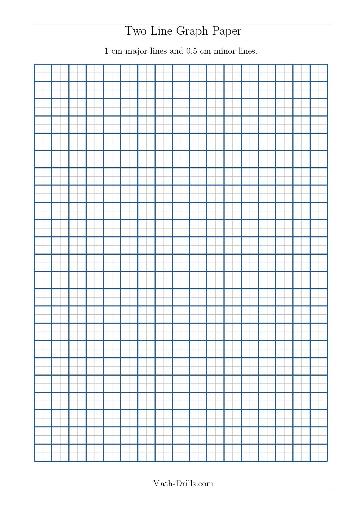Two Line Graph Paper With 1 Cm Major Lines And 0.5 Cm Minor Lines - Cm Graph Paper Free Printable