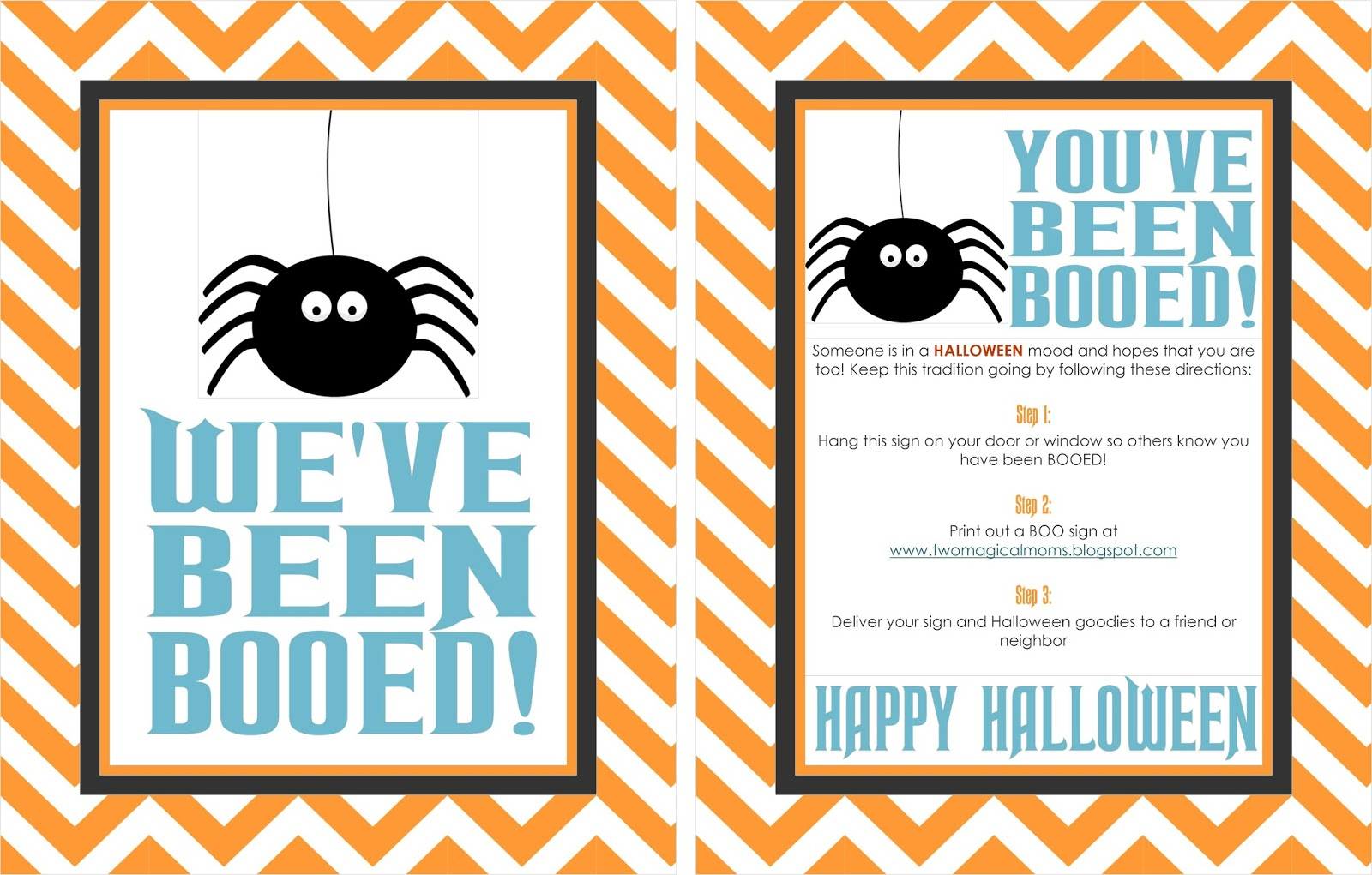 Two Magical Moms: Halloween- You've Been Booed! - We Ve Been Booed Free Printable