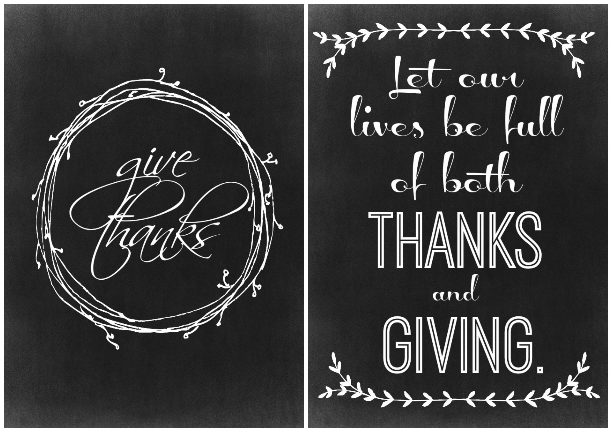 Two Thanksgiving Chalkboard Printables - The Crazy Craft Lady - Free Printable Closed Thanksgiving Day Signs