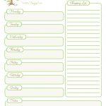 Two Week Menu Planner Printable With Weekly Dinner Template Plus   Free Printable Weekly Dinner Menu Planner