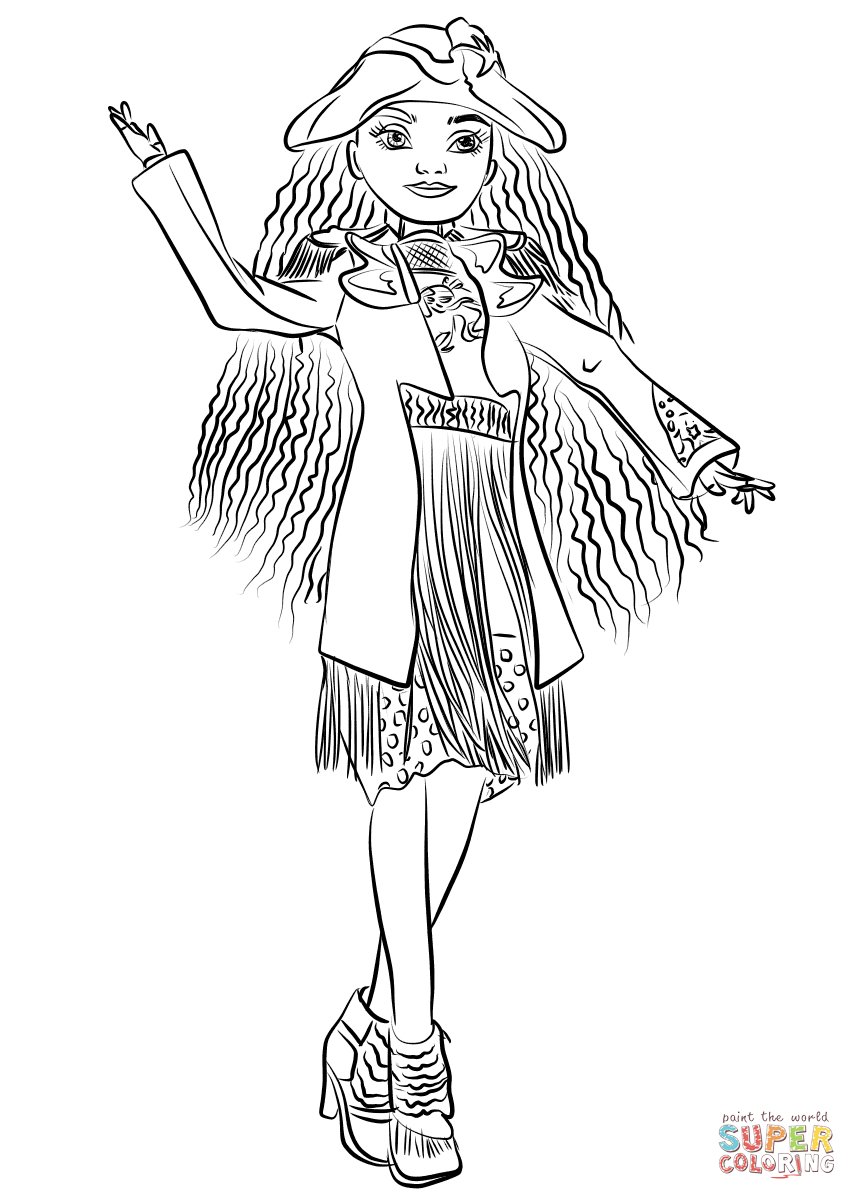 Uma From Descendants Coloring Page | Free Printable Coloring Pages - Free Printable Descendants Coloring Pages