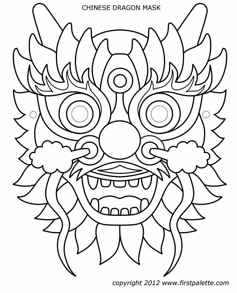 Un Masque De Dragon …   Fashion - Apparel - My Style   Drago… - Dragon Mask Printable Free