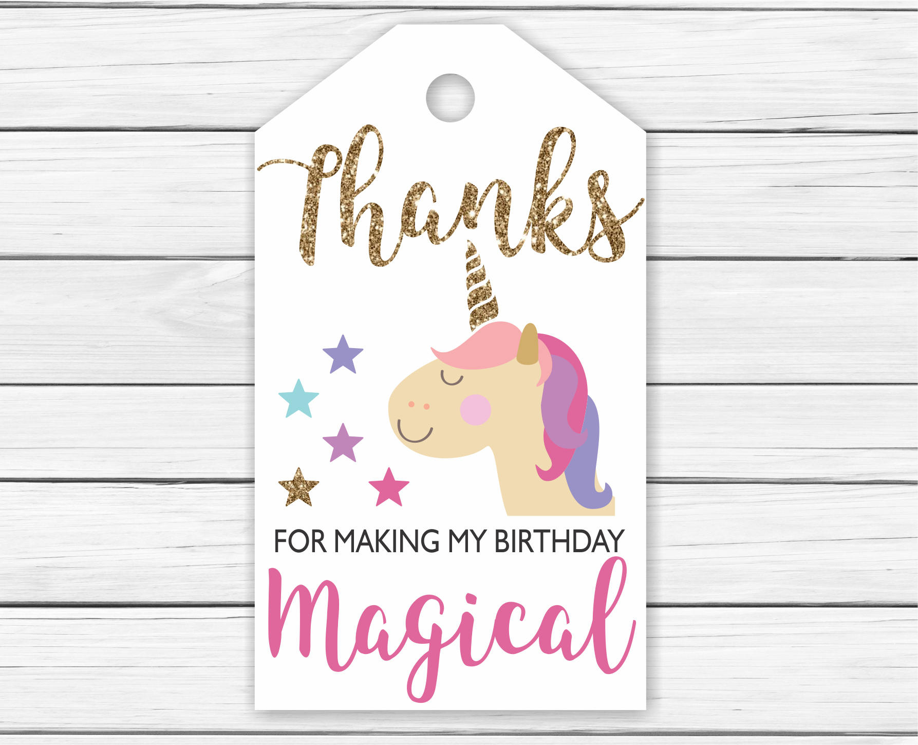 Unicorn Thank You Tags Printable Printable Unicorn Thank You Tags - Free Printable Thank You Tags For Birthday Favors