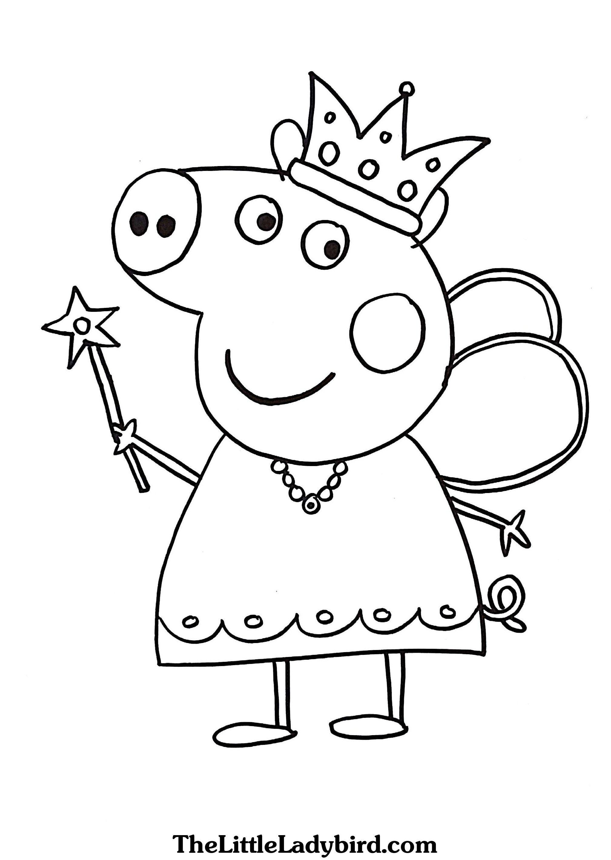 Unique Pig Color Pages Free Printable Coloring For Kids #7764 - Pig Coloring Sheets Free Printable