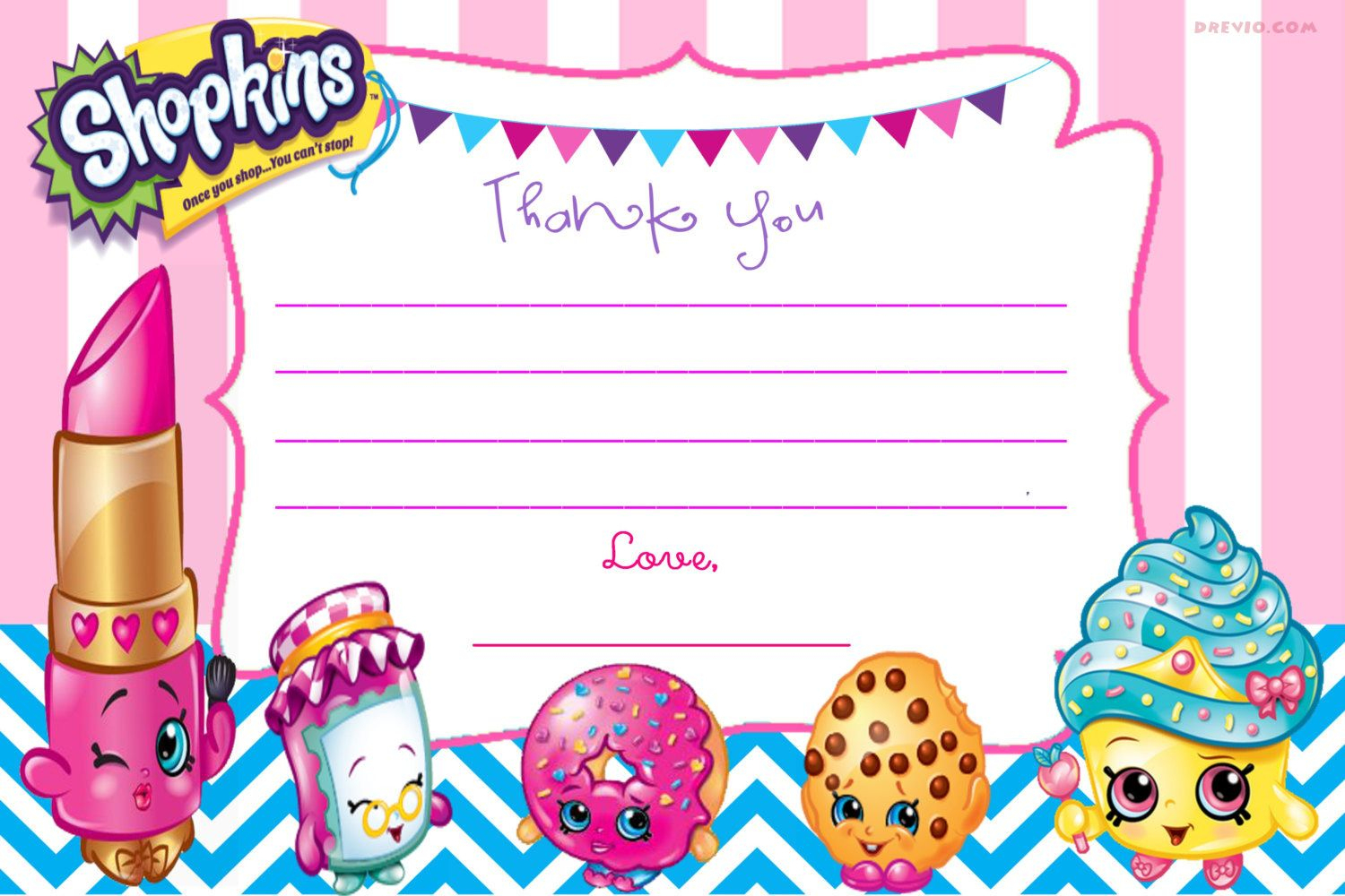 Updated - Free Printable Shopkins Birthday Invitation | Free - Free Printable Shopkins Invitations