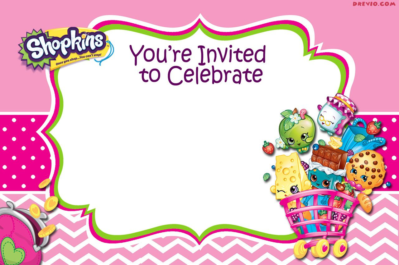 Updated - Free Printable Shopkins Birthday Invitation Template - Free Printable Shopkins Invitations