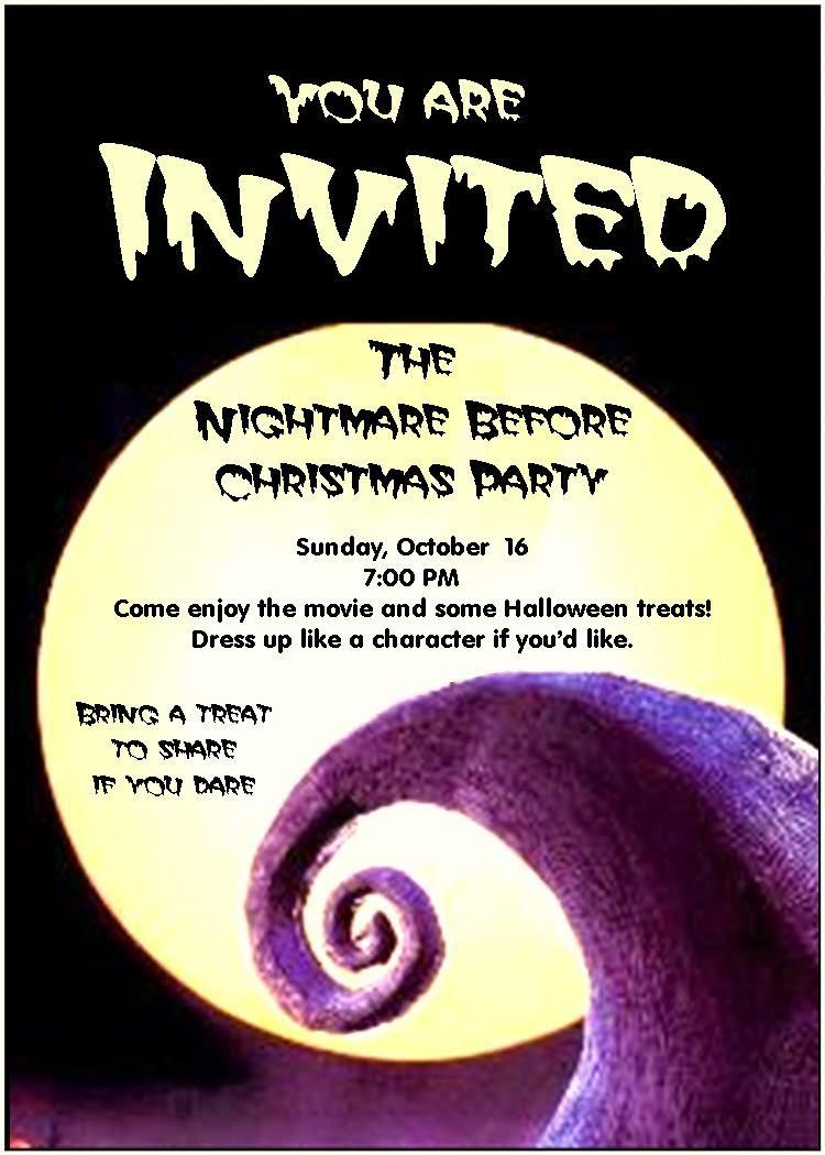 Utah County Mom: Nightmare Before Christmas Party   Party - Free Printable Nightmare Before Christmas Birthday Invitations