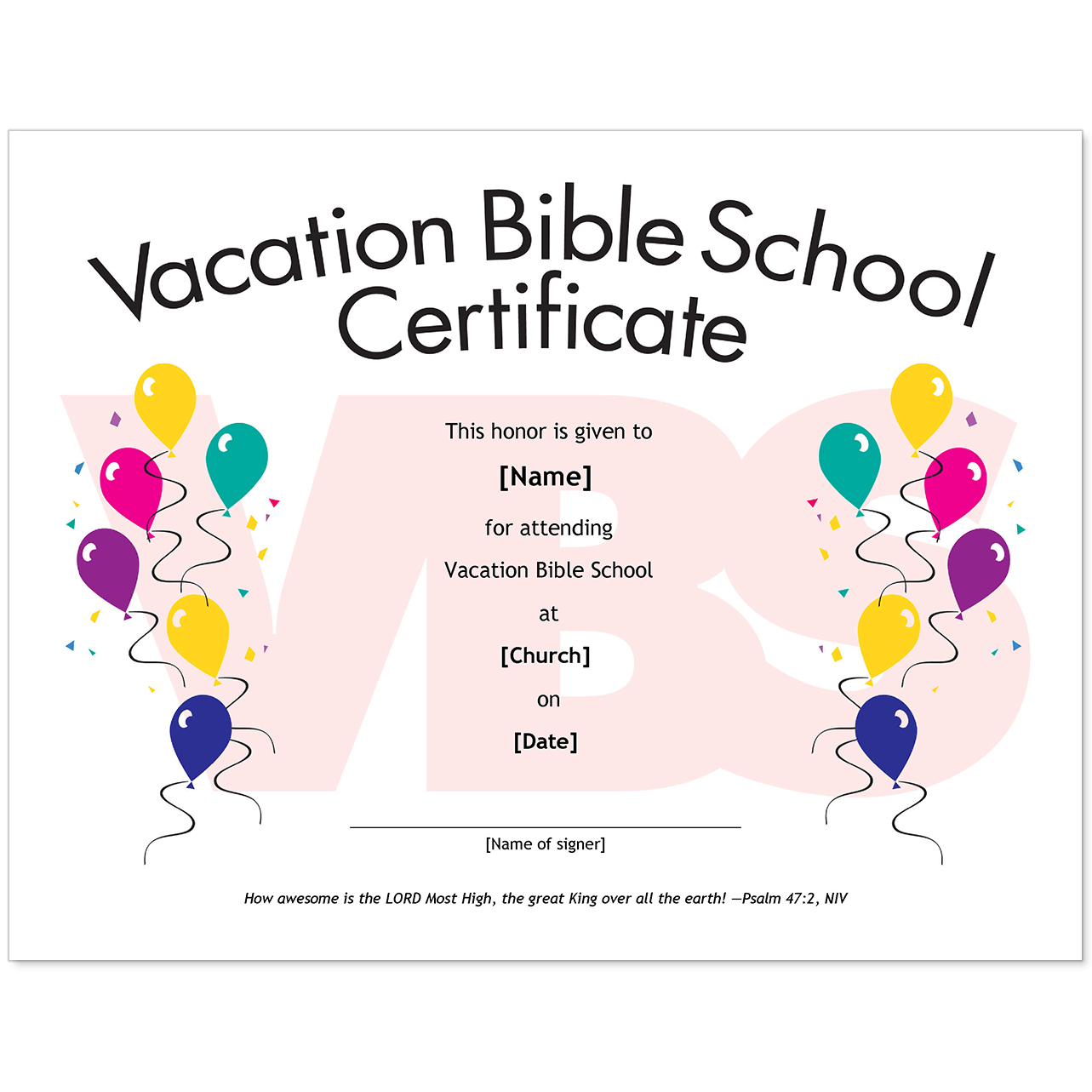 Vacation Bible School Certificate Templates - Condo-Financials - Free Printable Vacation Bible School Materials