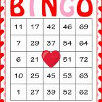 Valentine's Bingo Cards   Printable Download   Prefilled   Free Printable Bingo Cards Random Numbers