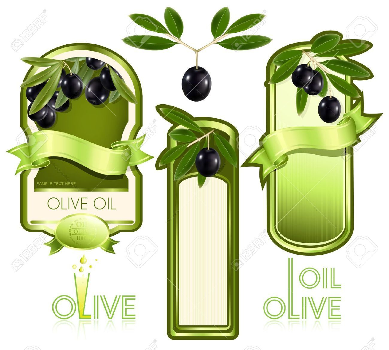 Vector Illustration. Label For Product. Olive Oil | Scrappin | Tag - Free Printable Olive Oil Labels