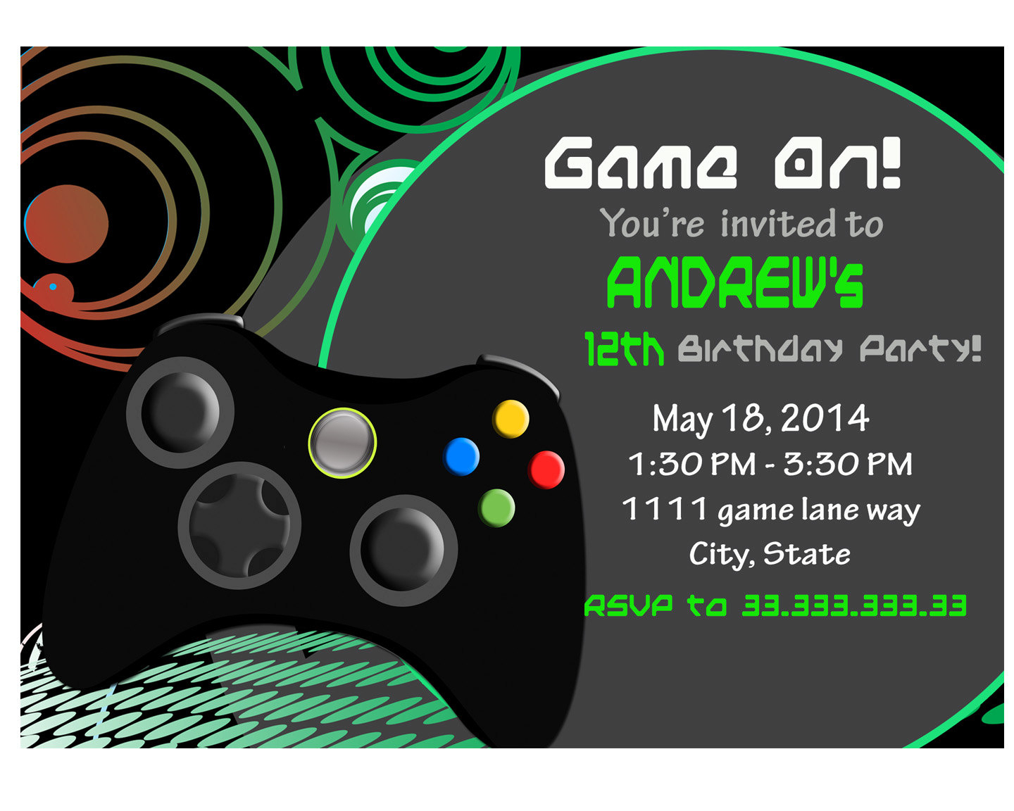 Video Game Party Invitations Video Game Party Invitations For Owning - Free Printable Video Game Party Invitations