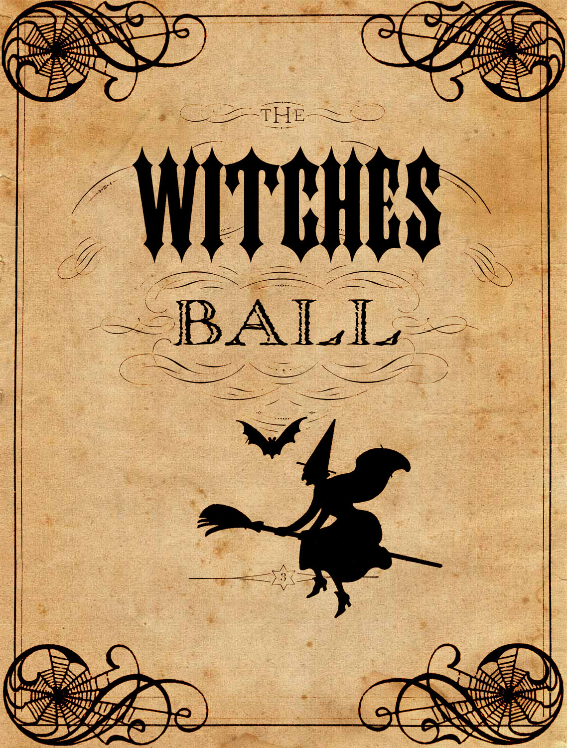 Vintage Halloween Printable - The Witches Ball - The Graphics Fairy - Free Printable Vintage Halloween Images