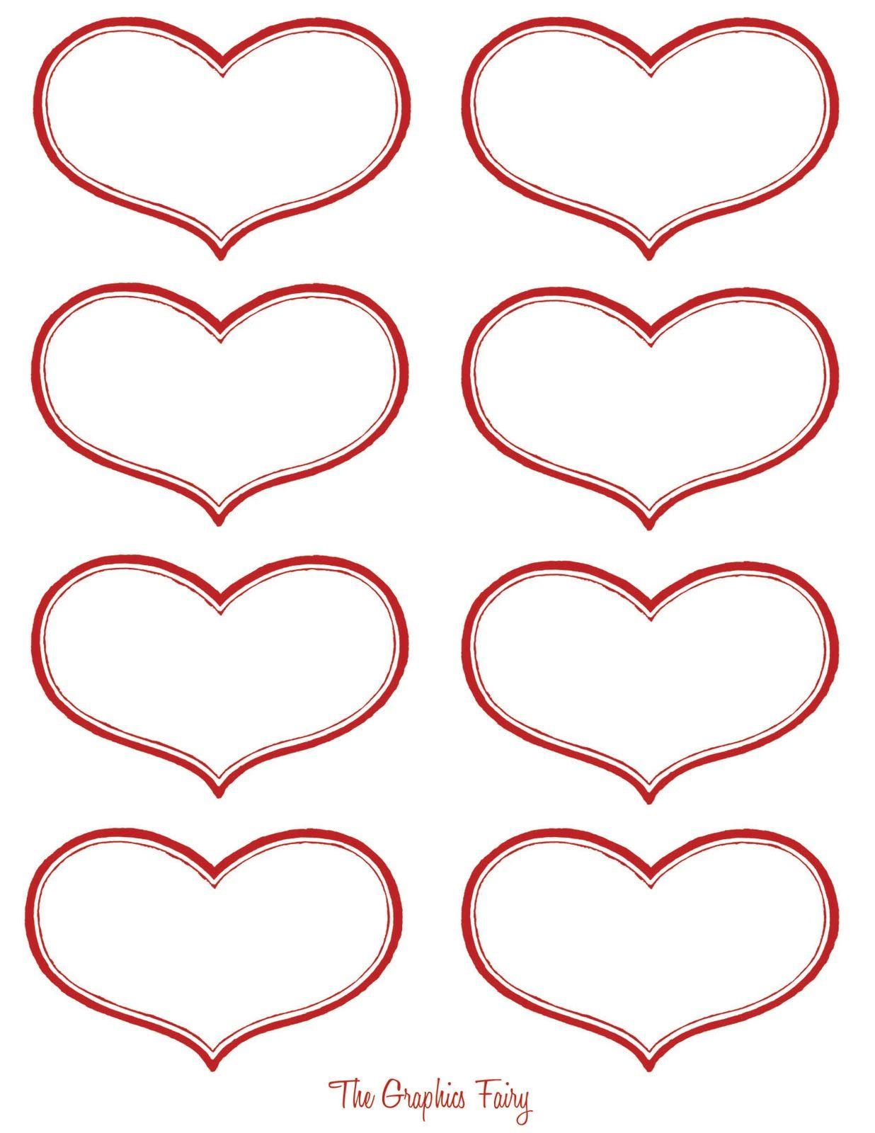 Vintage Valentine Printable - Antique Heart Labels | Download - Free Printable Heart Labels