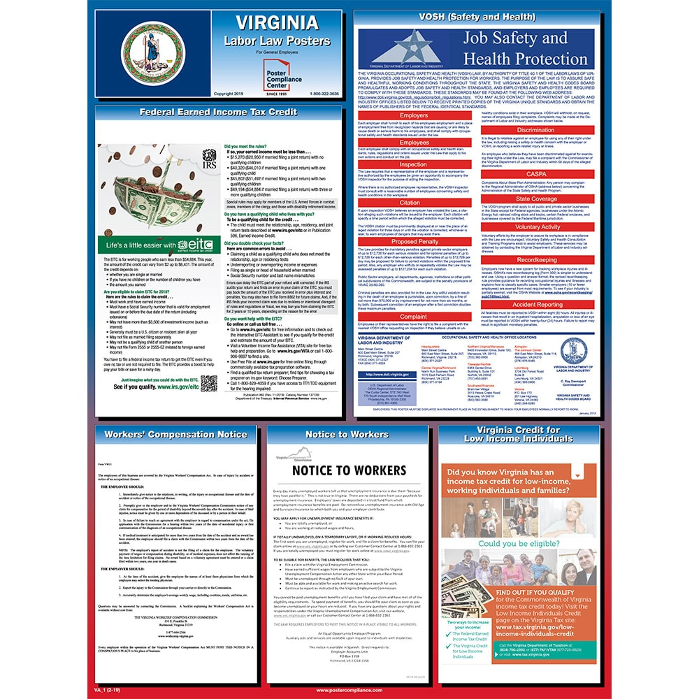 Virginia Labor Law Posters 2019 | Poster Compliance Center - Free Printable Osha Posters