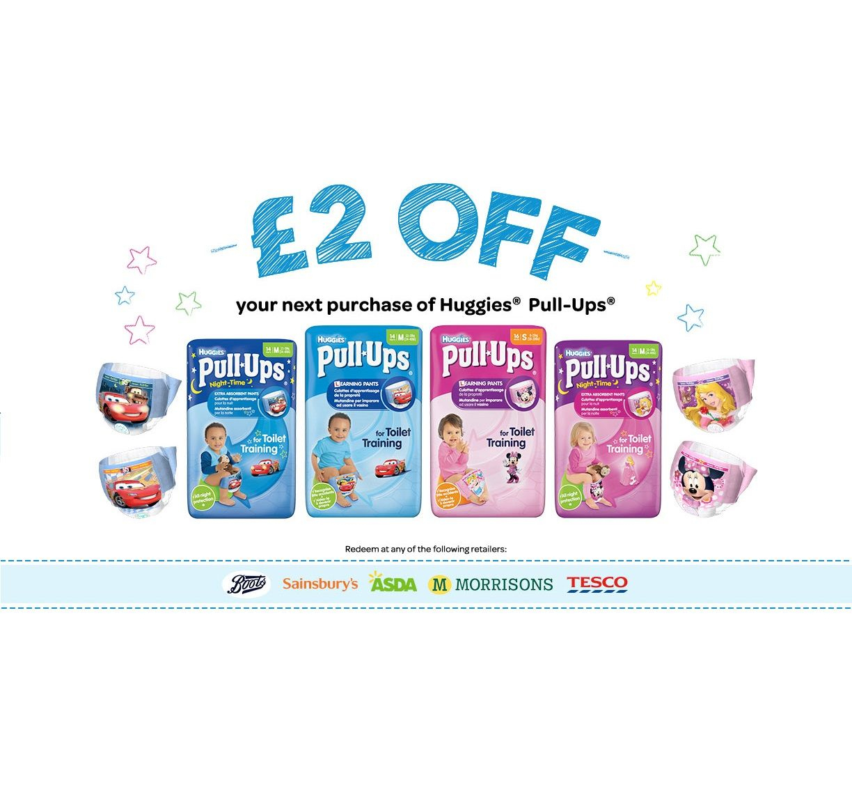 Voucher Code £2 Off Huggies Pull Ups | Baby Stuff Uk | Coupons - Free Printable Coupons For Pampers Pull Ups