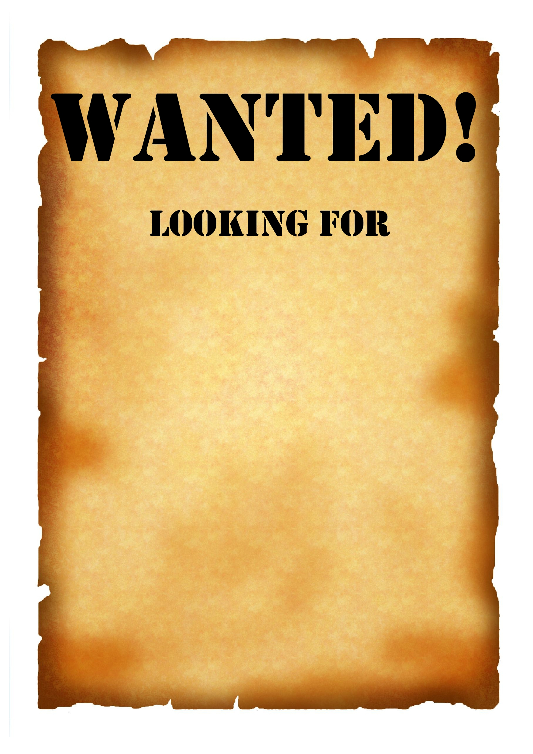 Wanted Poster Printable | Best Template & Design Images - Wanted Poster Printable Free