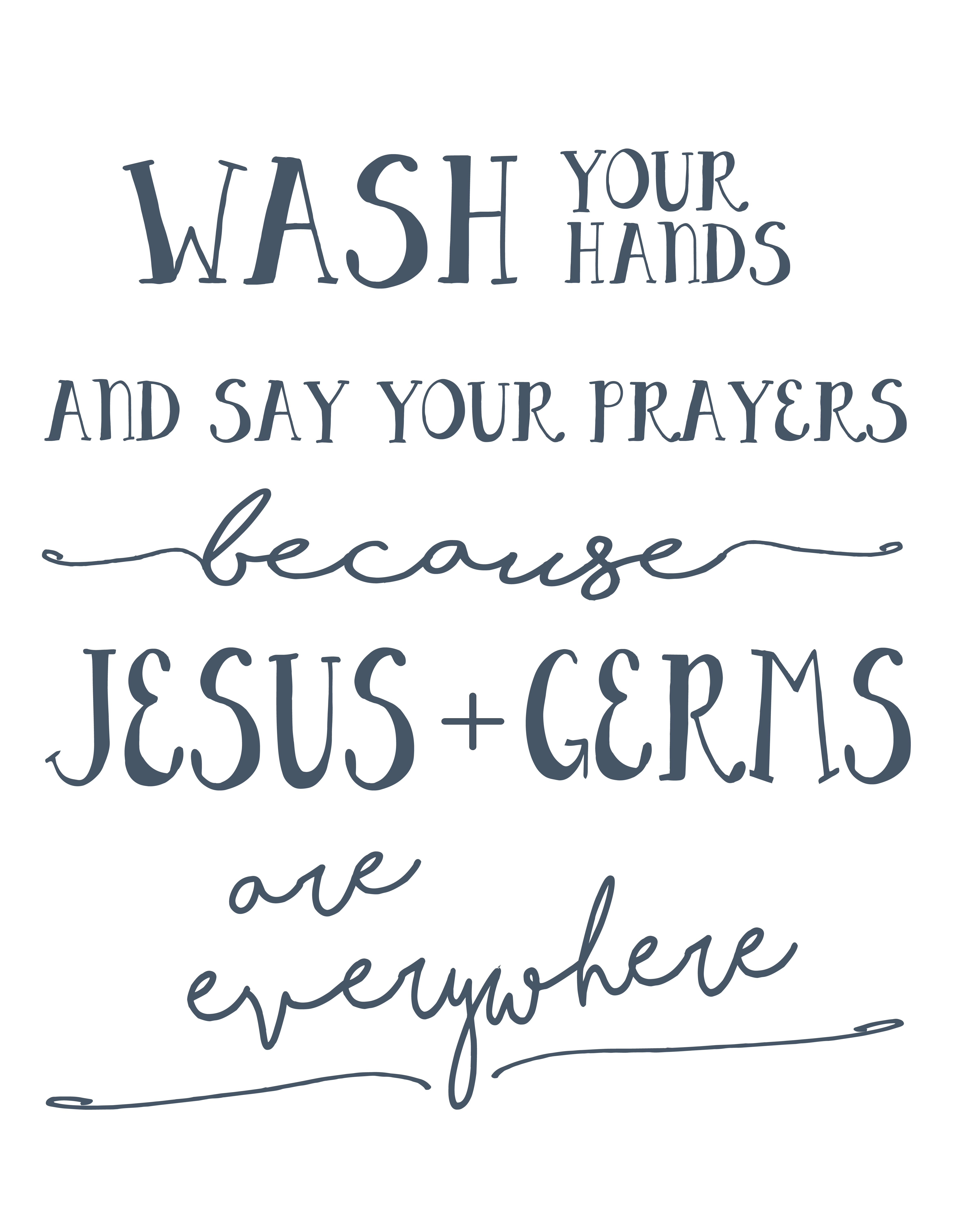 Wash Your Hands And Say Your Prayers Free Printable | Arts & Crafts - Wash Your Hands And Say Your Prayers Free Printable