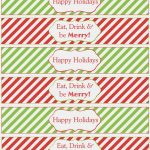 Water Bottle Printables For Christmas – Christmas Printables – Print   Christmas Water Bottle Labels Free Printable