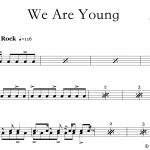 We Are Young – Fun – Drum Sheet Music – Onlinedrummer   Free Printable Drum Sheet Music