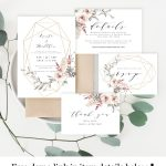Wedding Invitation Kit Invite Template 100% Editable Unlimited Diy   Free Printable Enclosure Cards