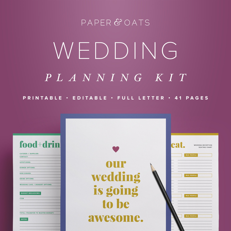 Wedding Planner Book Sample – Free Wedding Template - Free Printable Wedding Organizer Templates