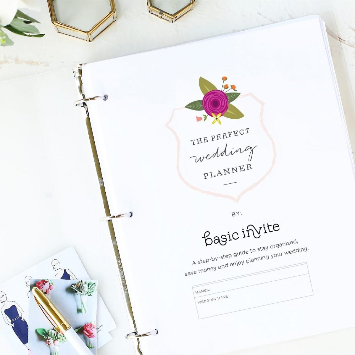 Wedding Planner Printablebasic Invite - Free Printable Wedding Planner Pdf