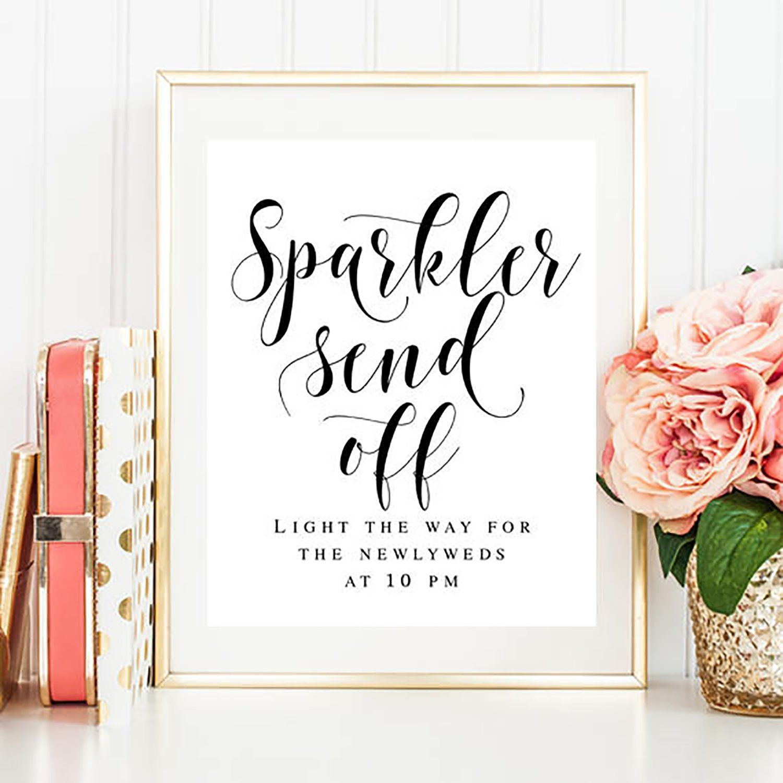 Wedding Sparkler Sign Template - Free Printable Wedding Sparkler Sign