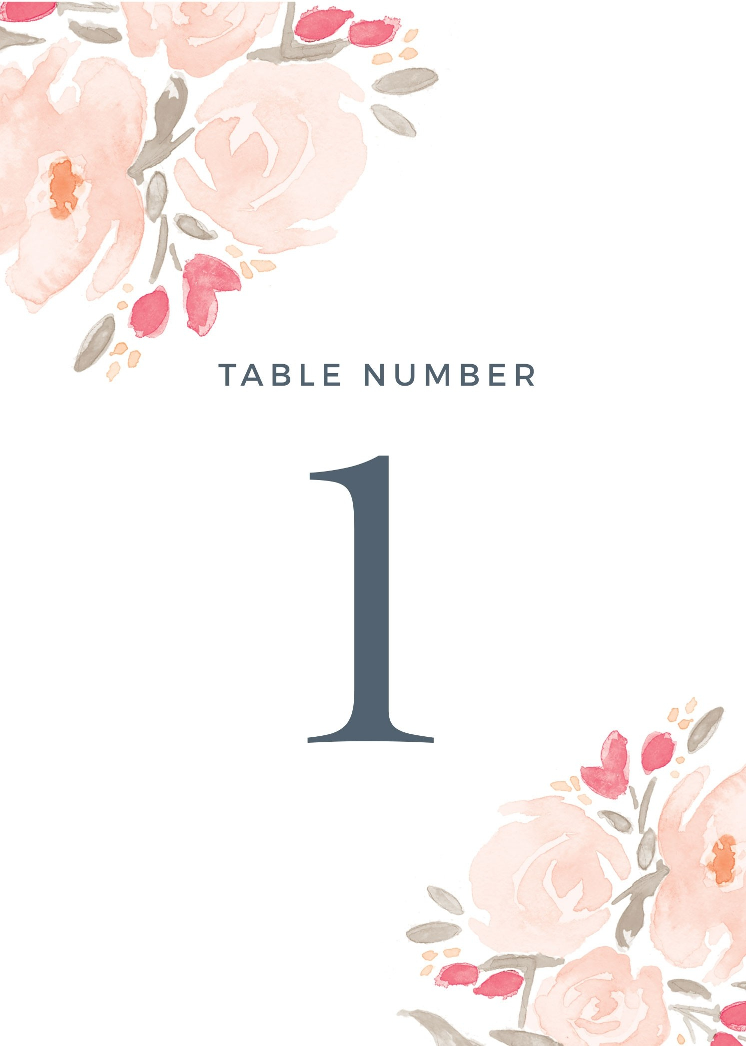 Wedding Table Numbers | Printable Pdfbasic Invite - Free Printable Table Numbers