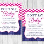 Weddingssusan: Printable Don't Say Baby! 8X10 Clothes Pin Or   Pin The Dummy On The Baby Free Printable