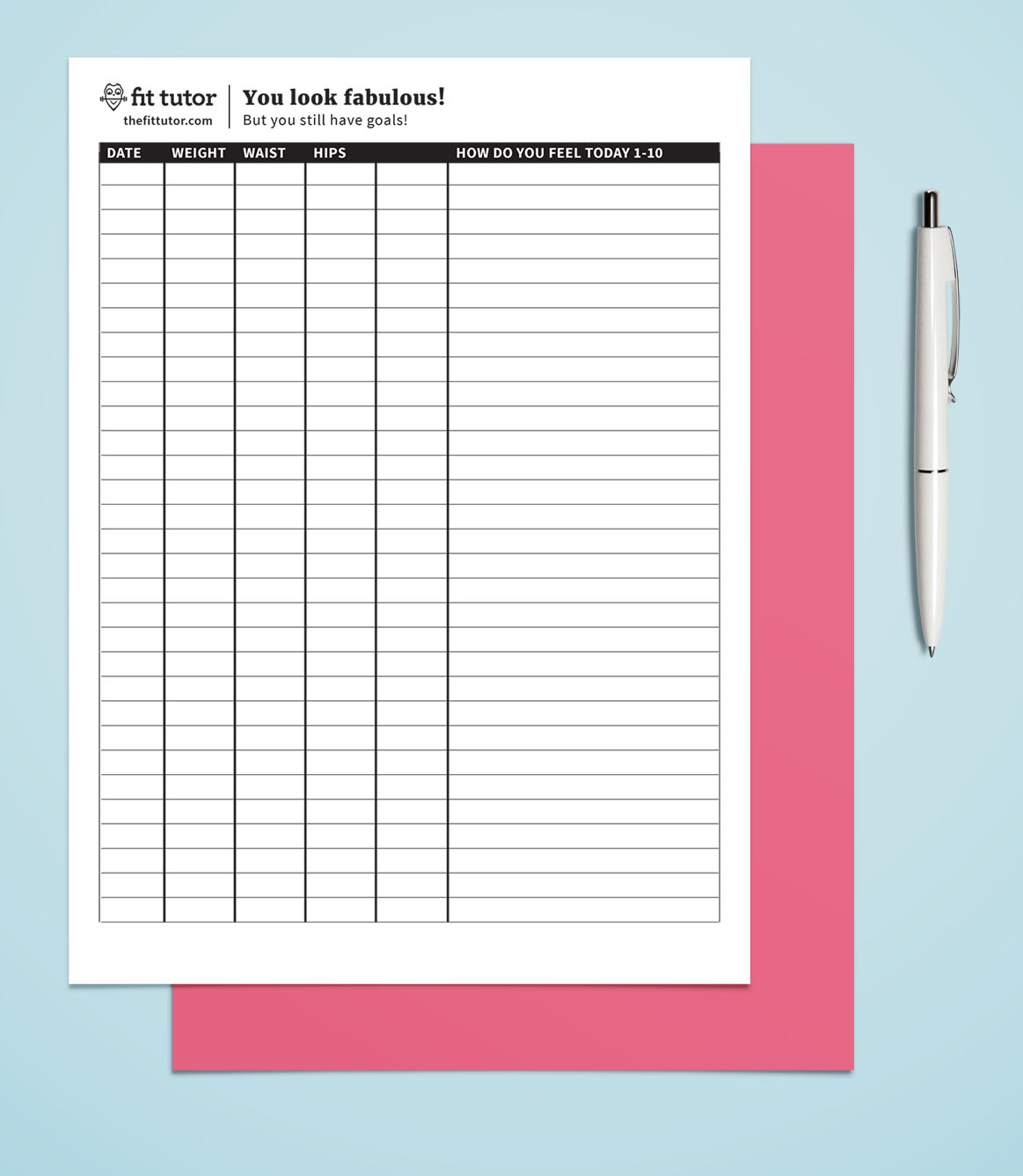 Weight Loss Chart - Free Printable - Reach Your Weight Loss Goals - Printable Weight Loss Charts Free