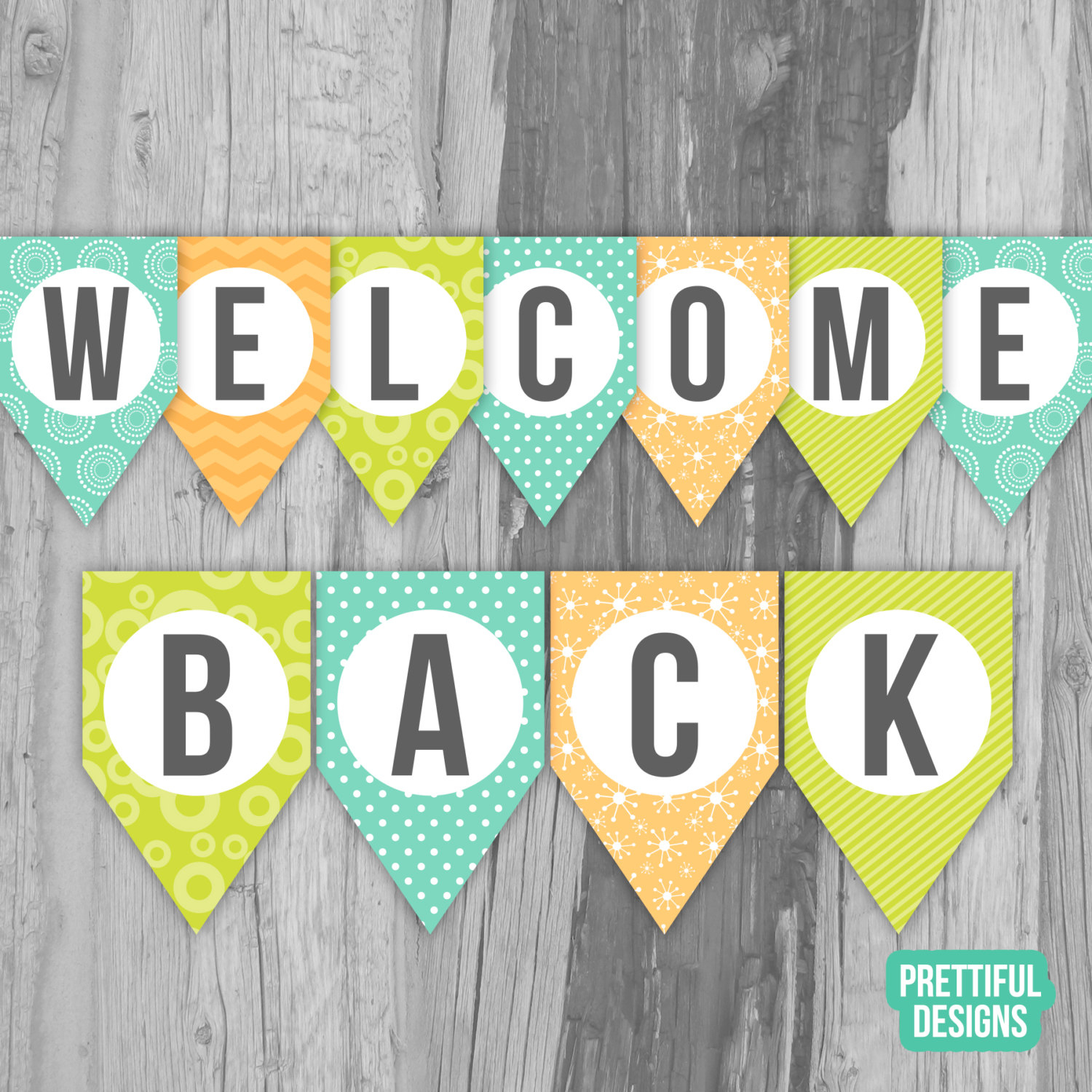 Welcome Back First Day Of School Banner Printable Instant | Etsy - Free Printable Welcome Back Signs For Work