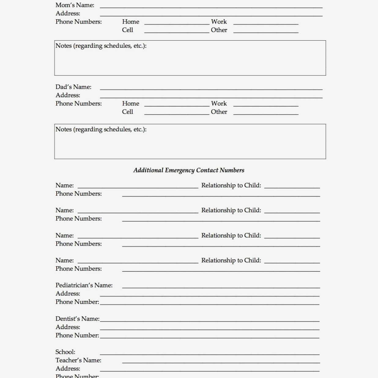 What Makes Medical Release Form For Parents | Form Information - Free Printable Medical Release Form