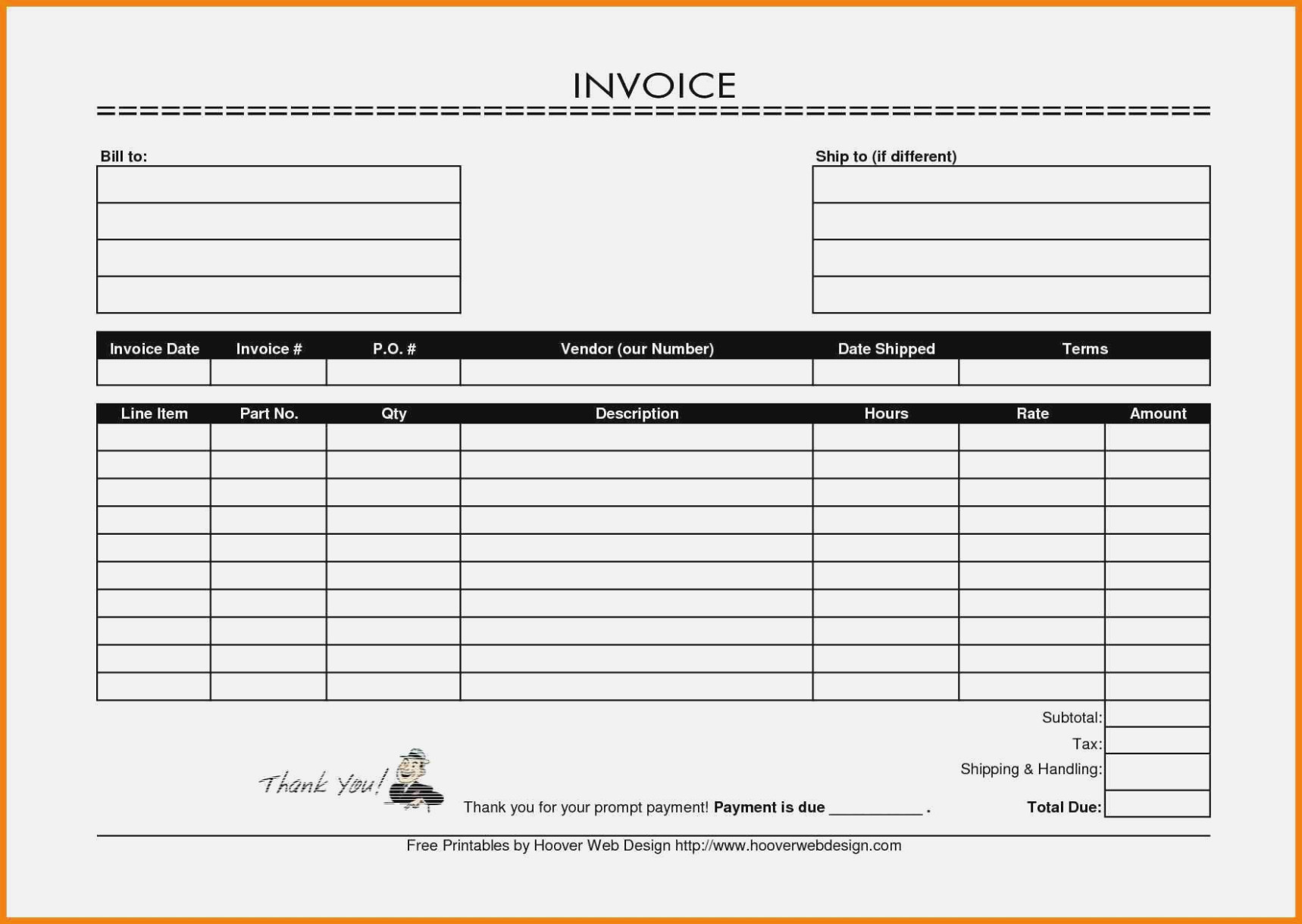 Why You Must Experience | Invoice And Resume Template Ideas - Free Invoices Online Printable