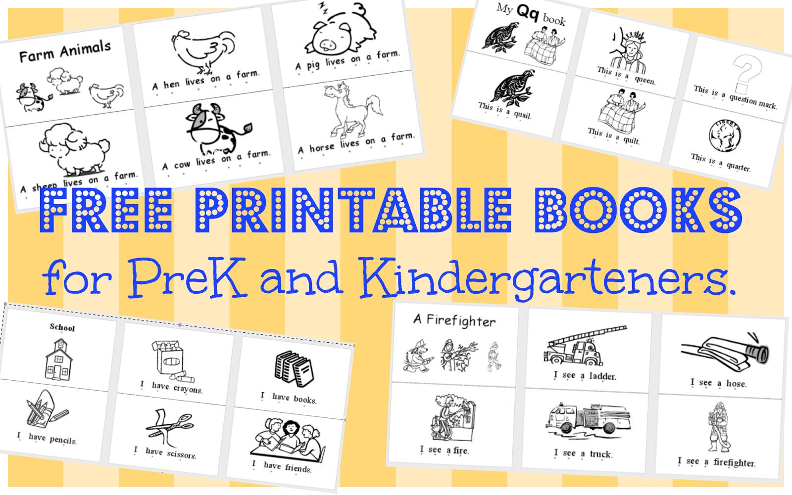 Wild Rumpus School House: *printable Books (Pk-K) - Free Printable Story Books For Kindergarten