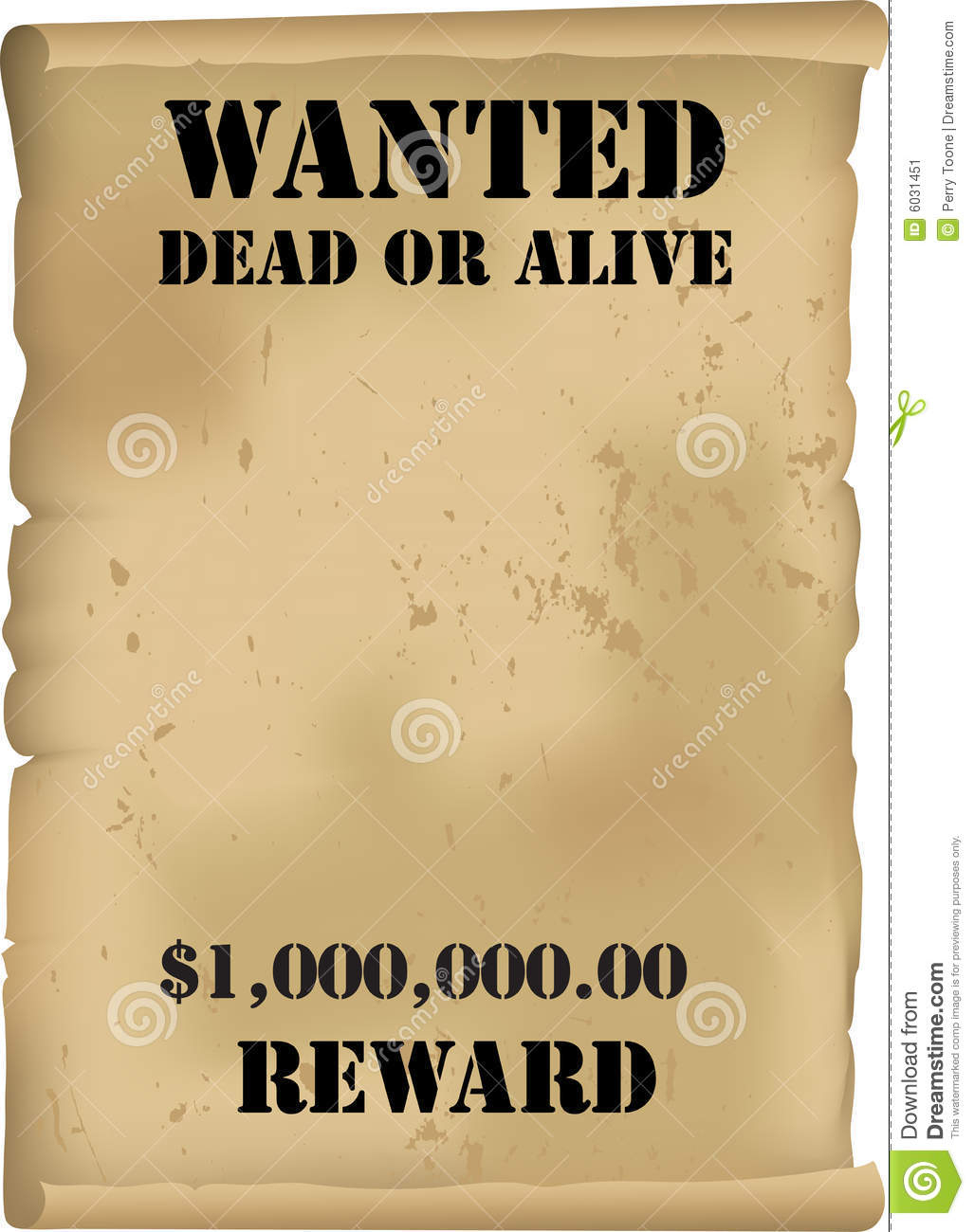 Wild West Wanted Poster Vector Stock Vector - Illustration Of Cash - Free Printable Wanted Poster Old West