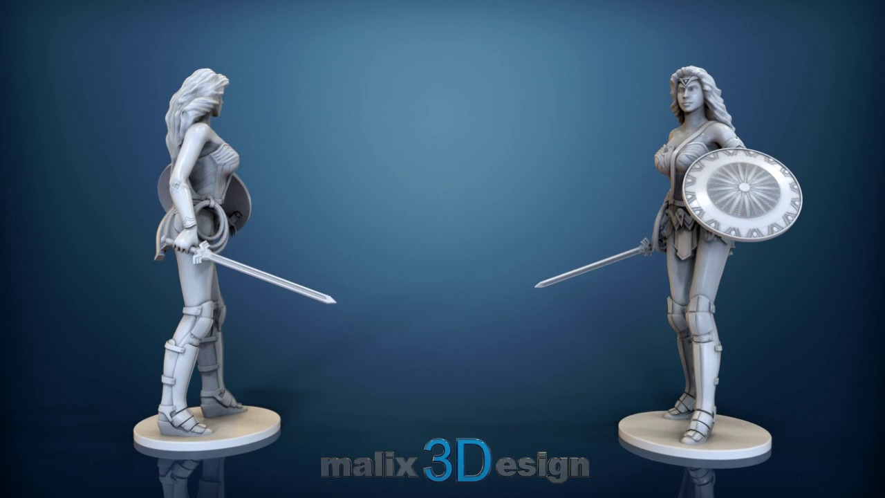 Wonder Woman - 3D Model For 3D Printing - Youtube - Free 3D Printable Models