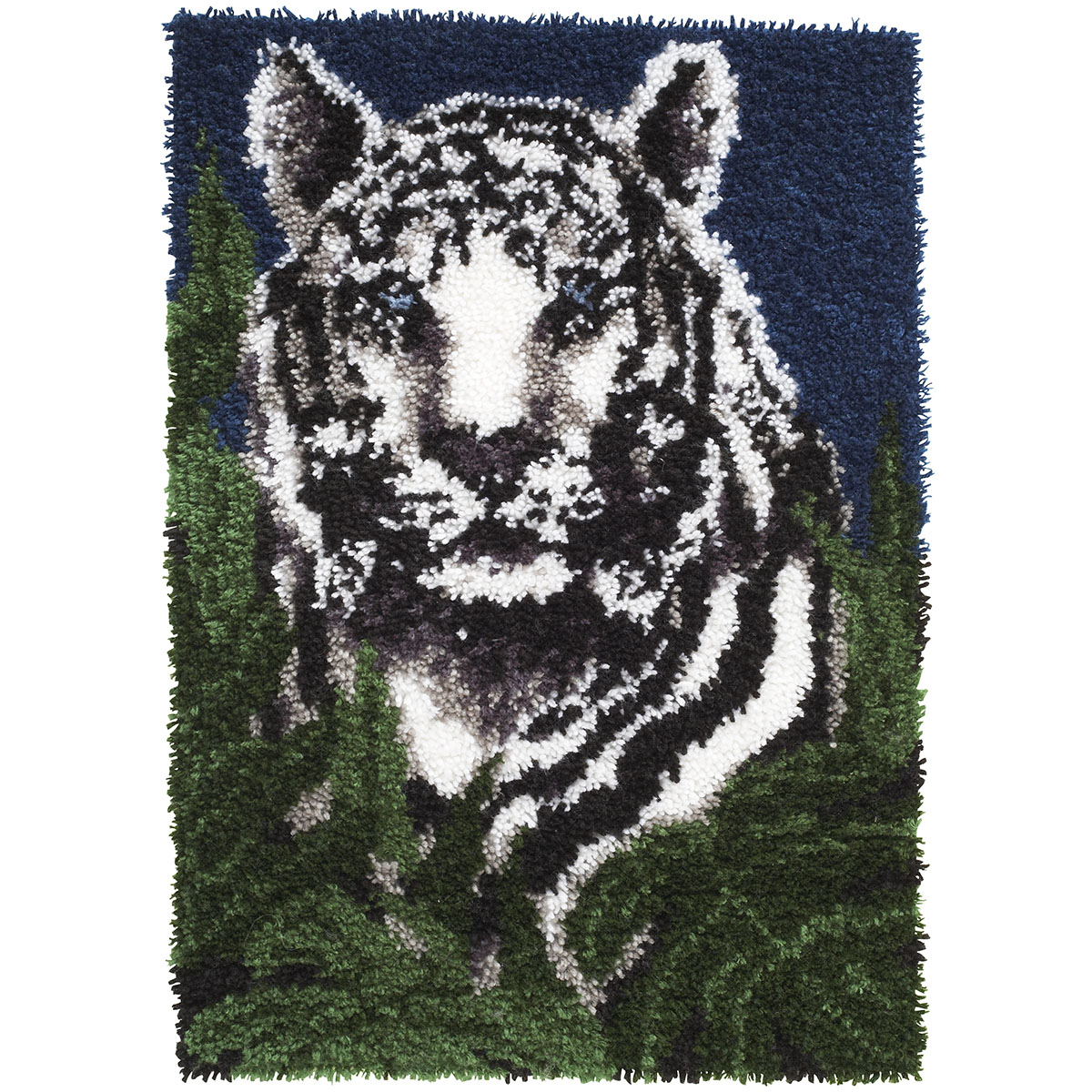 "Wonderart Latch Hook Kit 24""x34""-White Tiger 