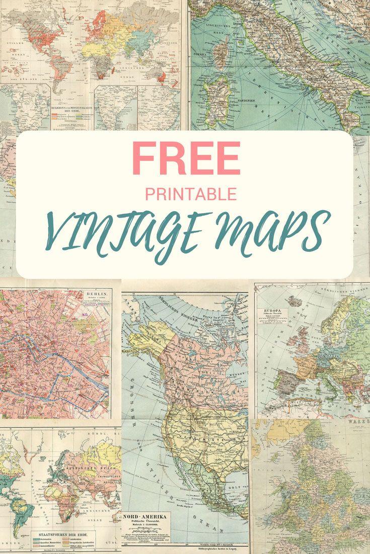 Wonderful Free Printable Vintage Maps To Download | #mcsmith Wedding - Free Printable Wedding Maps