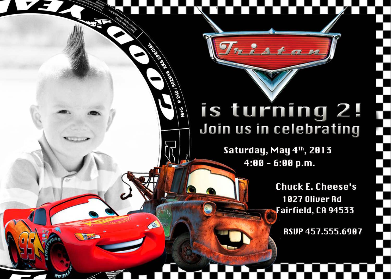 Wonderful Printable Cars Birthday I Superb Cars Birthday Party - Free Printable Disney Cars Birthday Party Invitations
