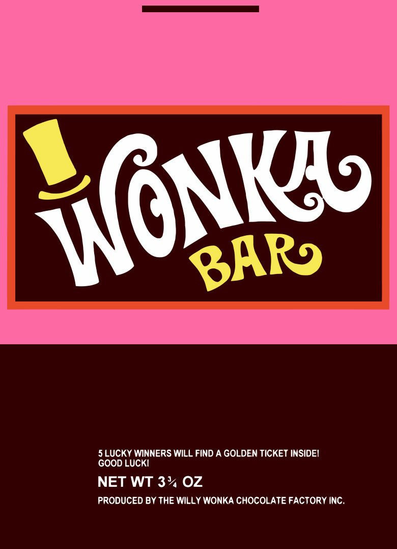 Wonka Wrapper | Willy Wonka - Wonka Bar Wrapper Printable Free