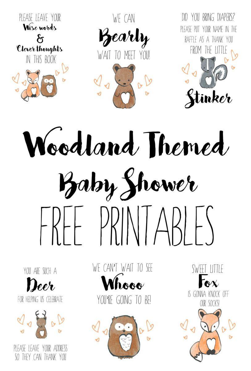 Woodland Baby Shower Free Printables | Baby Showers - Free Printable Book Themed Baby Shower Invitations