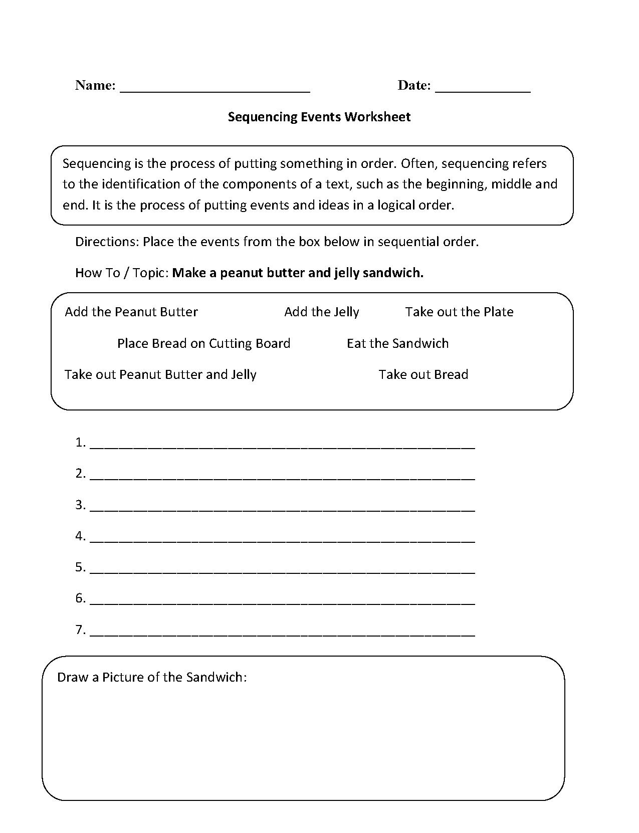 Worksheet. Sequencing Worksheets 2Nd Grade. Worksheet Fun Worksheet - Free Printable Sequencing Worksheets 2Nd Grade