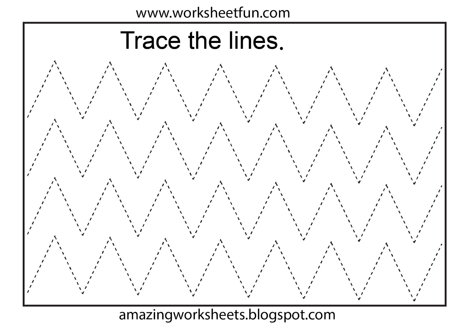 Worksheetfun - Free Printable Worksheets | Toddler Worksheets - Free Printable Preschool Worksheets Tracing Lines