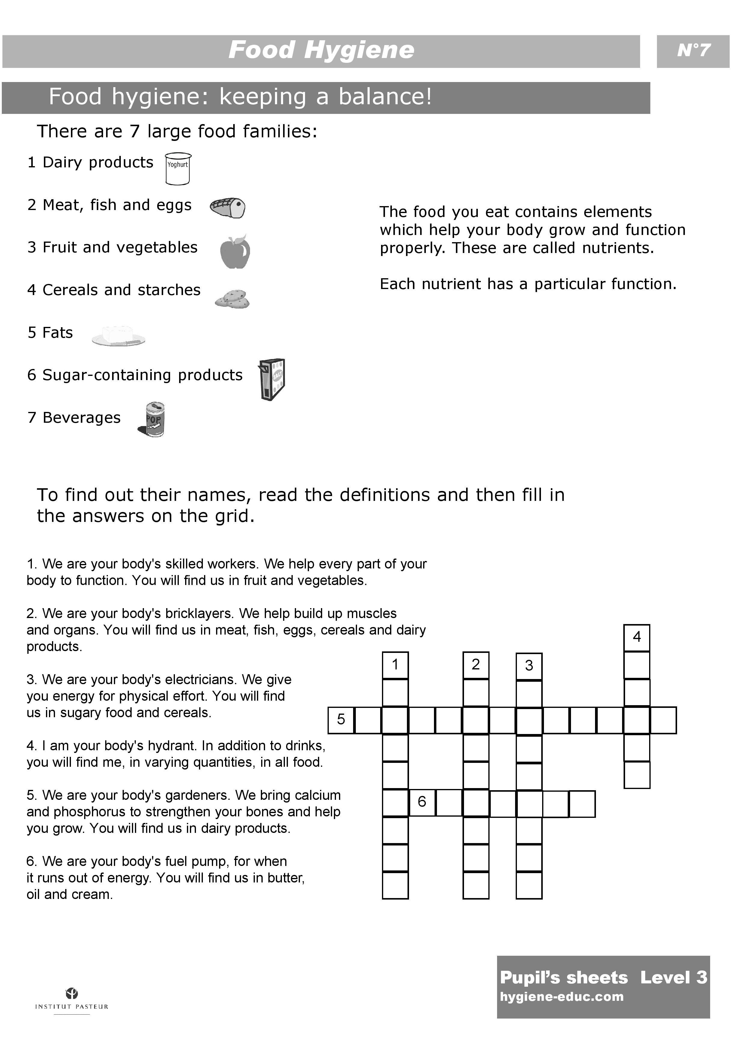 Worksheets. Hygiene Worksheets For Elementary Students. Cheatslist - Free Printable Personal Hygiene Worksheets