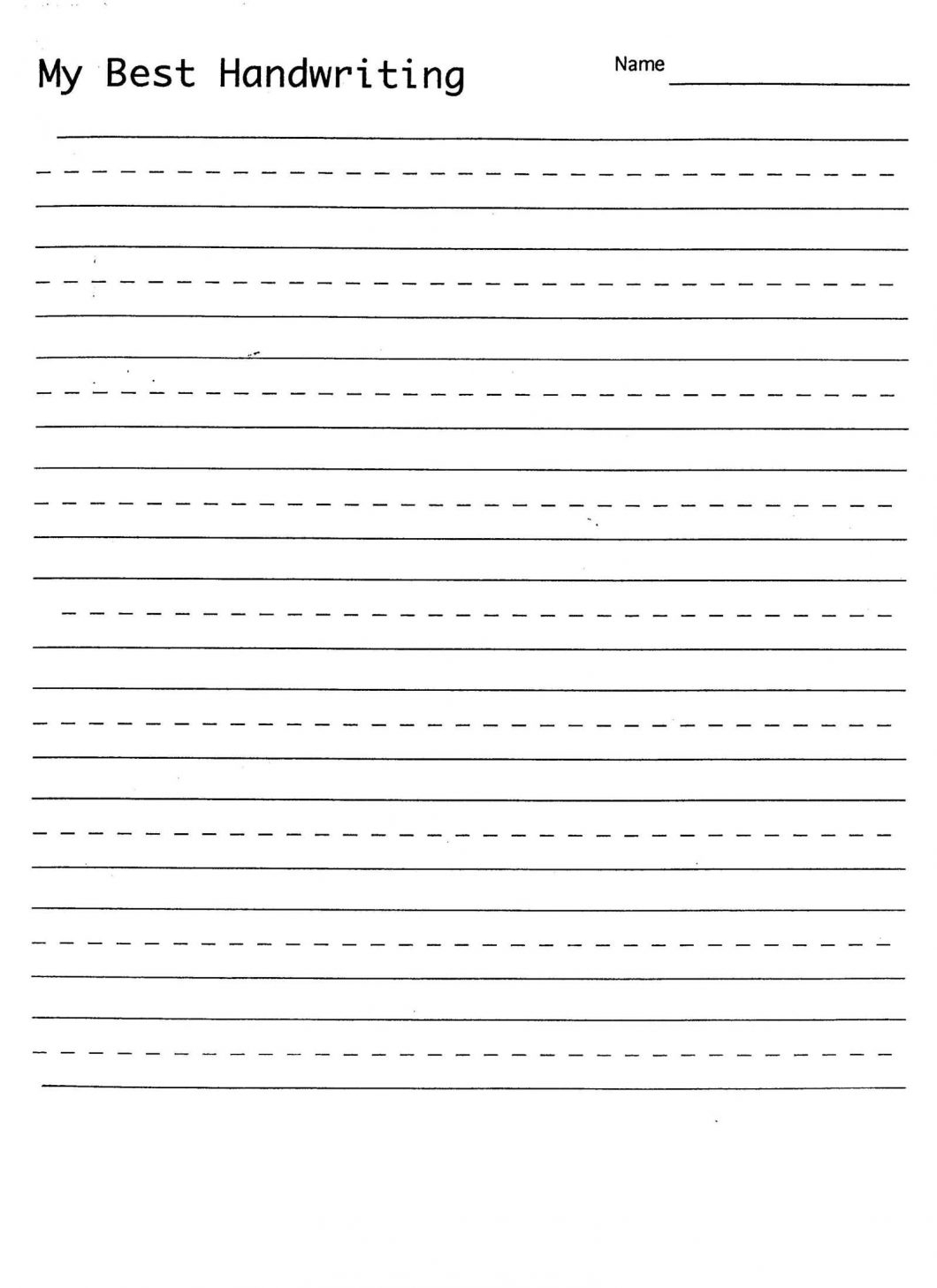 Writing Practice Sheets For Preschoolers – With Printing - Free Printable Practice Name Writing Sheets