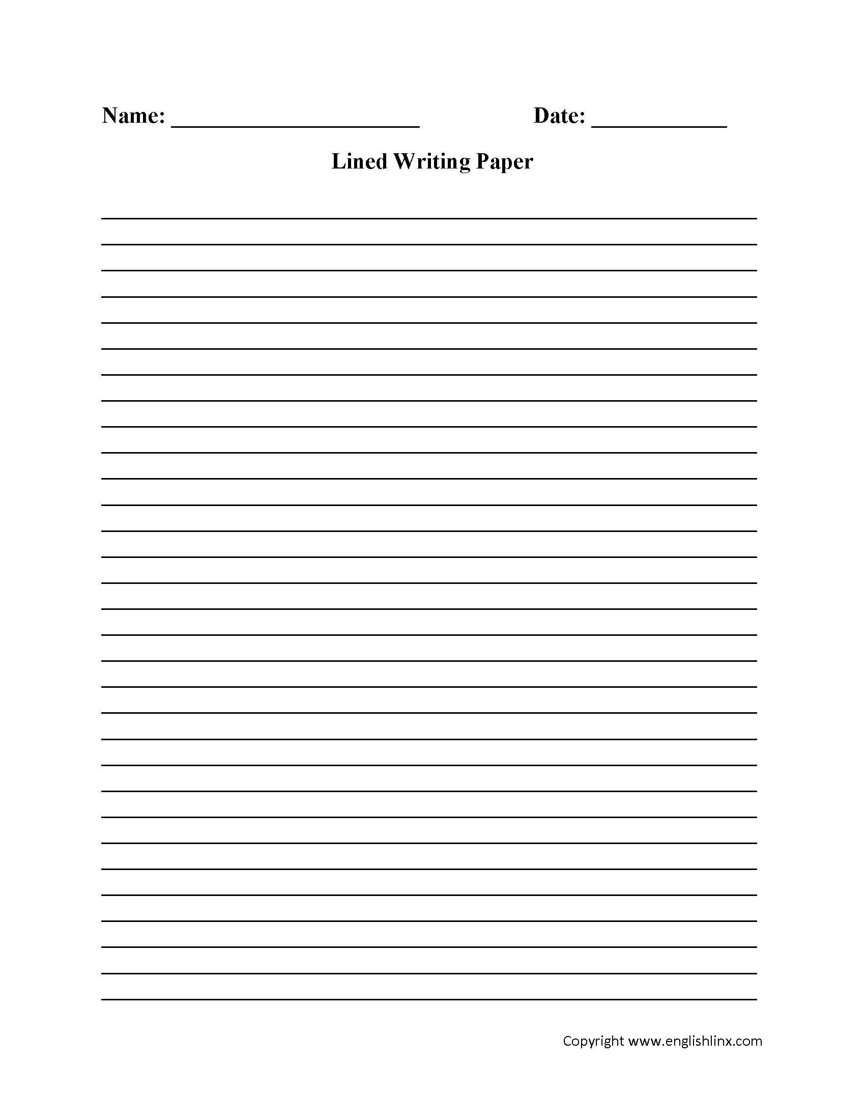 Writing Worksheets | Lined Writing Paper Worksheets - Free Printable Lined Handwriting Paper
